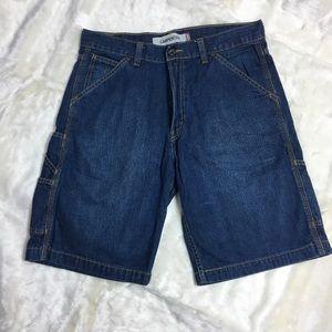 Levi carpenter blue jean shorts